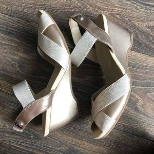 Anne Klein Women's Sport Wedge Sandals